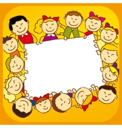 kids with sign vector image vector image