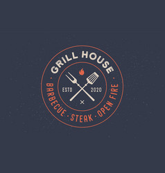Logo for grill house restaurant vector