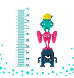 meter wall or height from 50 to 140 vector image