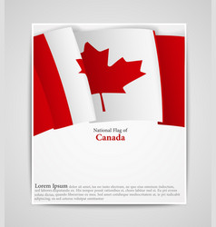 national flag brochure of canada vector image
