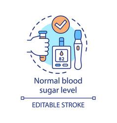 Normal blood sugar level concept icon healthy vector