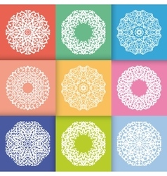 pattern with round ornaments vector image