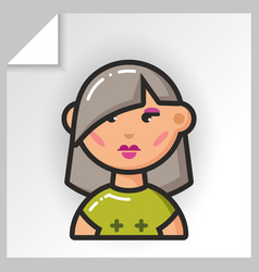 people face icons 9 vector image
