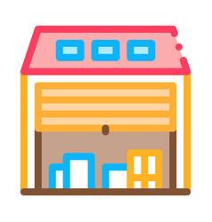 post stock postal transportation company icon vector image