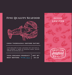 Premium quality seafood abstract lobster vector