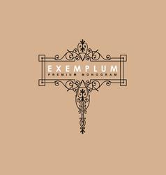 premium victorian monogram templates to create vector image