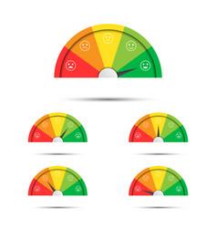 Rating customer satisfaction meter different vector