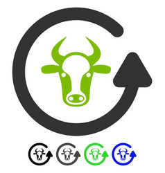 Refresh bull flat icon vector