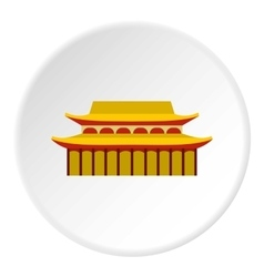 Sacred temple icon flat style vector