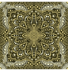 Seamless gold pattern of spirals swirls vector