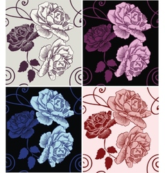 Seamless pattern beautiful decorative roses vector image