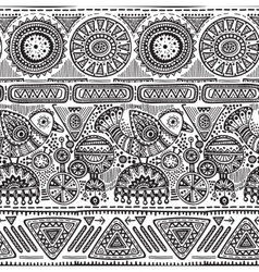 Seamless pattern with black and white hand vector