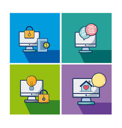 set of differents icons vector image