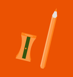 Set of in realistic style sharpened pencil a vector