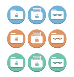 set of multicolored icons protection of privacy vector image