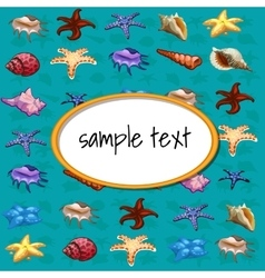 Starfish and other different sea shell vector