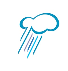 Stylized Cloud With Falling Rain vector image