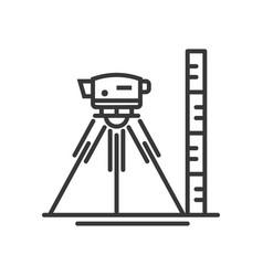 Surveyor level - modern line design vector