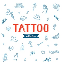 Tattoo doodles collection vector