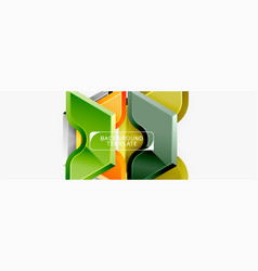 techno geometric shapes abstract banner design vector image