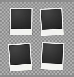 Template for photo polaroid frames for vector