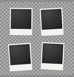 template for photo polaroid frames vector image