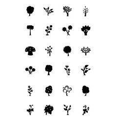 Trees Icons 3 vector image
