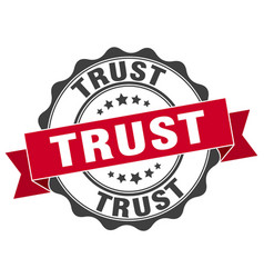 Trust stamp sign seal vector