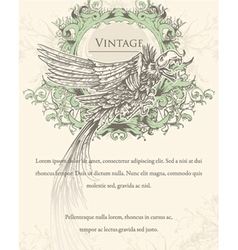 vintage ilustration with crow vector image