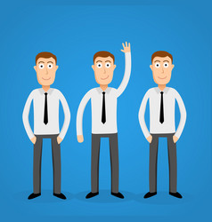 volunteer business man leader one of the crowd vector image