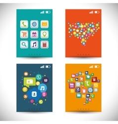Wallpaper mobile apps design vector