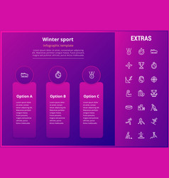 Winter sport infographic template elements icons vector