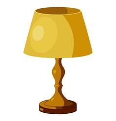 Yellow lamp vector image