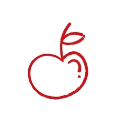 Apple fruit silhouette vector image