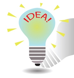 bulb idea concept template vector image vector image