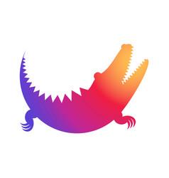crocodile rainbow icon made of circles vector image vector image