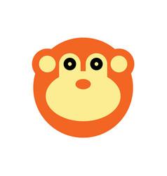 monkey cartoon animal head vector image