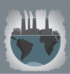 pollution vector image vector image