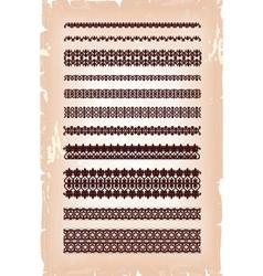 set of vintage arabic pattern vector image vector image