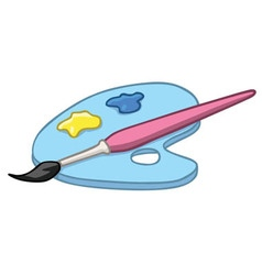 Colorful Kid Art Palette Cartoon vector image