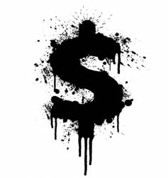 dollar splatter design vector image