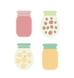 Jam in jars vector image