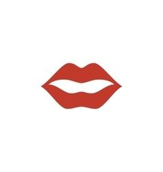 Lips Icon logo on white background vector image
