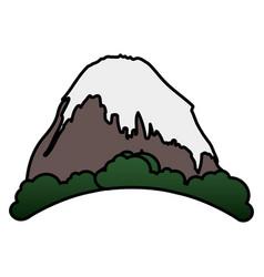 mountain peak with snow vector image
