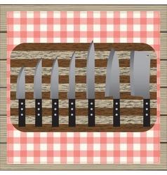 Set of knives vector image