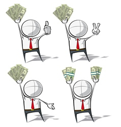 Simple Business People Money vector image