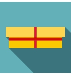 Small box icon flat style vector image vector image