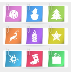 Color stapled christmas cards eps10 vector image vector image