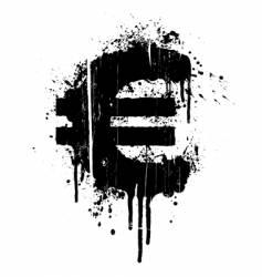 Euro splatter design element vector image