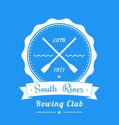 rowing club vintage logo emblem sign vector image